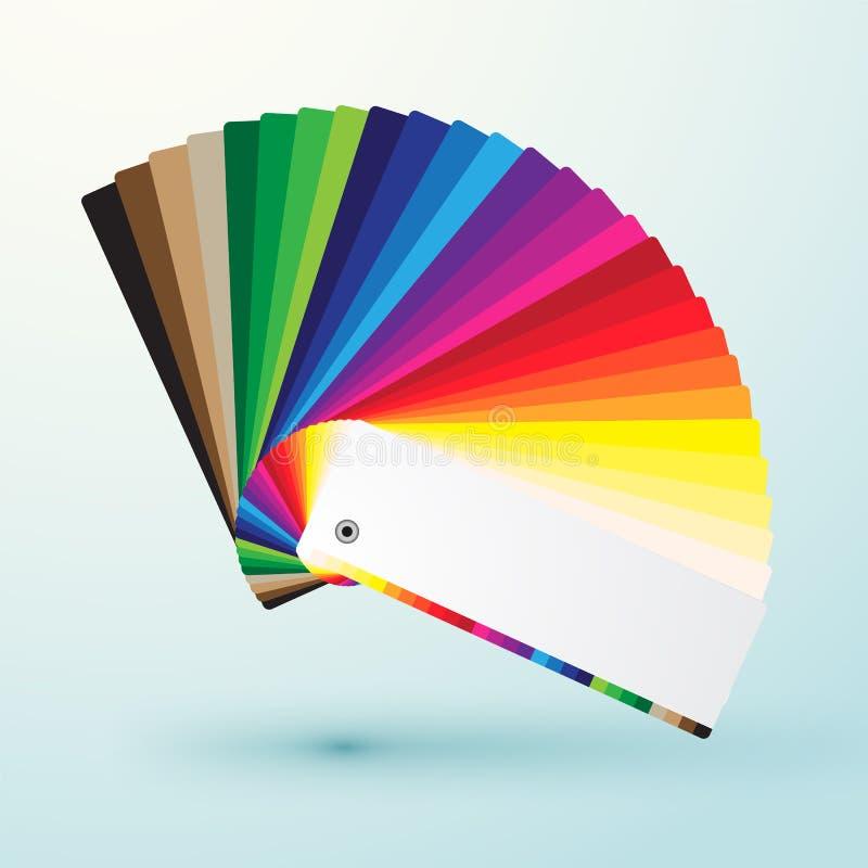 Het ontwikkelde palet van kleurenmonsters stock illustratie