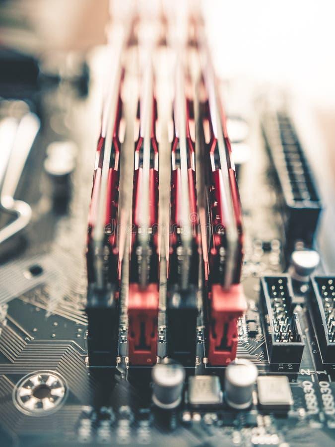 Het ontzagwekkende geheugen van Technologie elektronische RAM royalty-vrije stock afbeeldingen