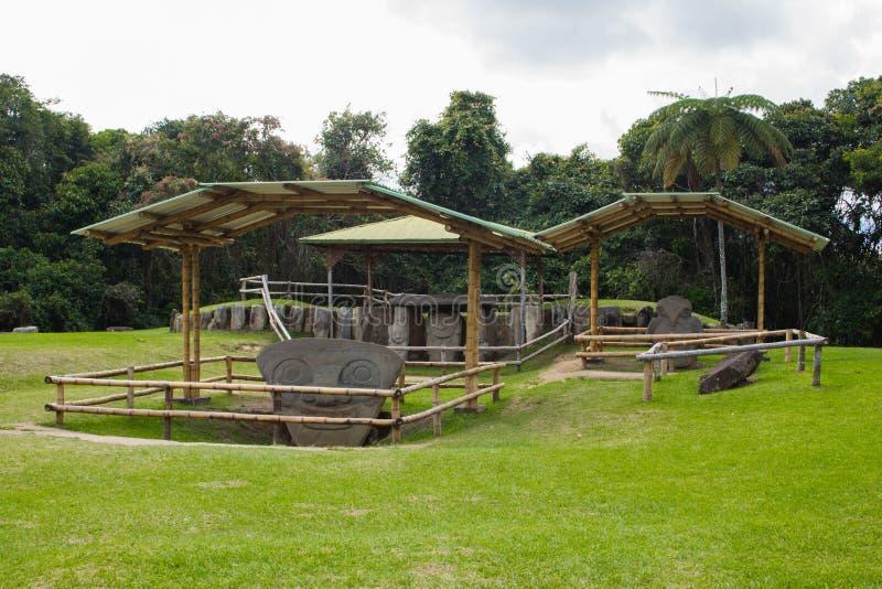 Het ontzagwekkende park van San Agustin Archeological, Huilla, Colombia de erfenis van de Unescowereld royalty-vrije stock fotografie