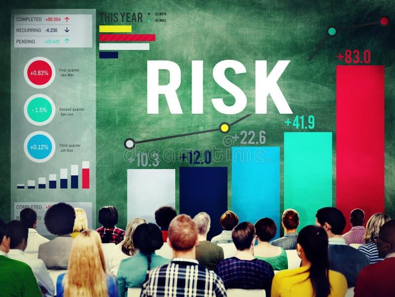 Het Onvaste Concept van risicobeheerHandelsinvesteringen royalty-vrije stock afbeelding