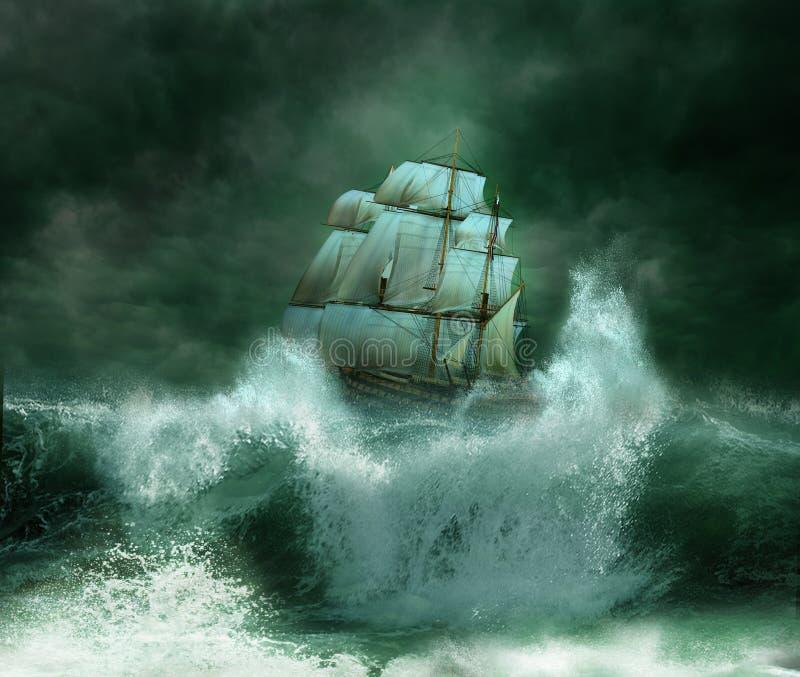 Het onweer stock illustratie