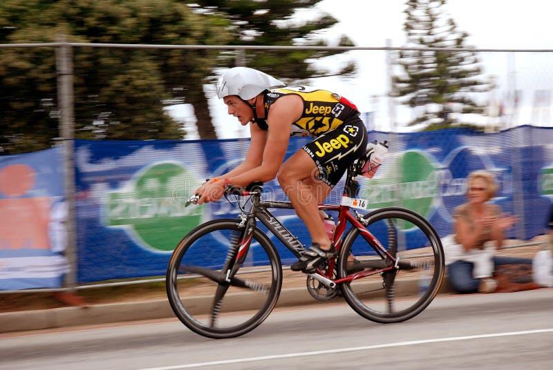 Het Onweer van Anton van Ironman triathlete (Zuid-Afrika) royalty-vrije stock afbeelding