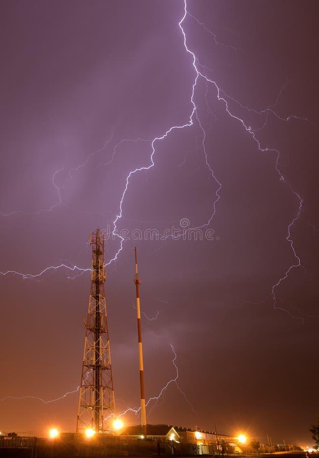 Het onweer van de bliksem royalty-vrije stock foto's