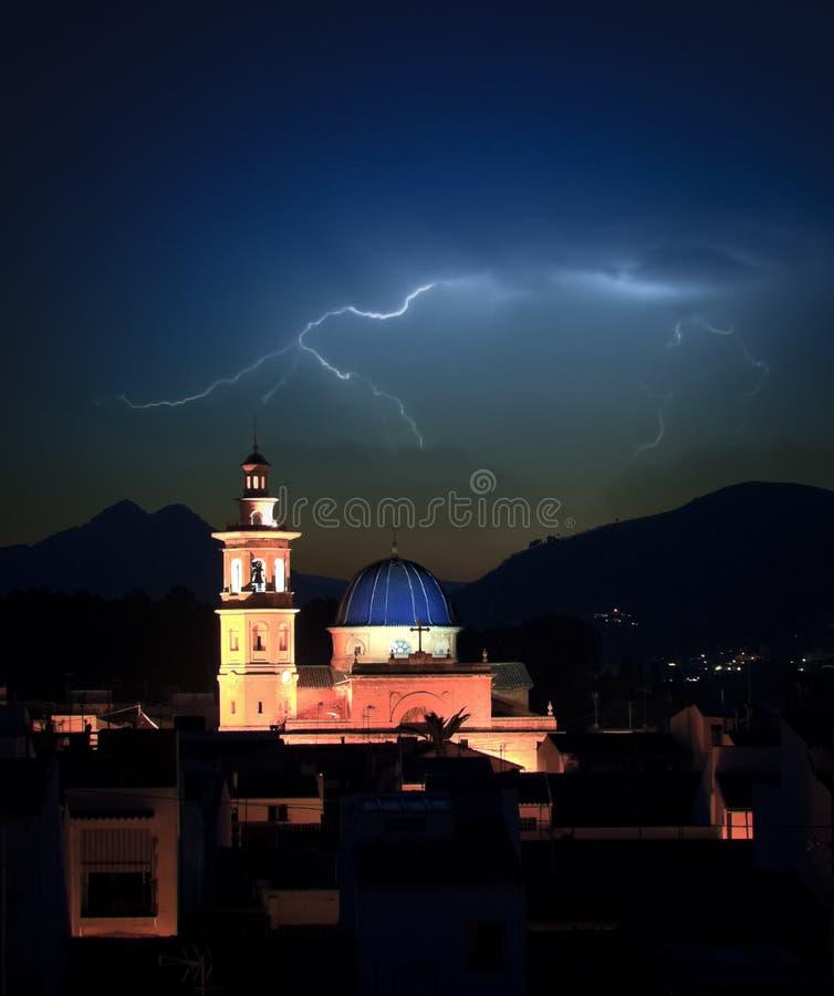 Het onweer van de bliksem royalty-vrije stock fotografie