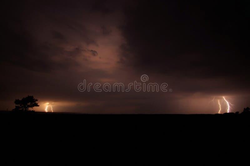 Het Onweer van de bliksem royalty-vrije stock afbeelding