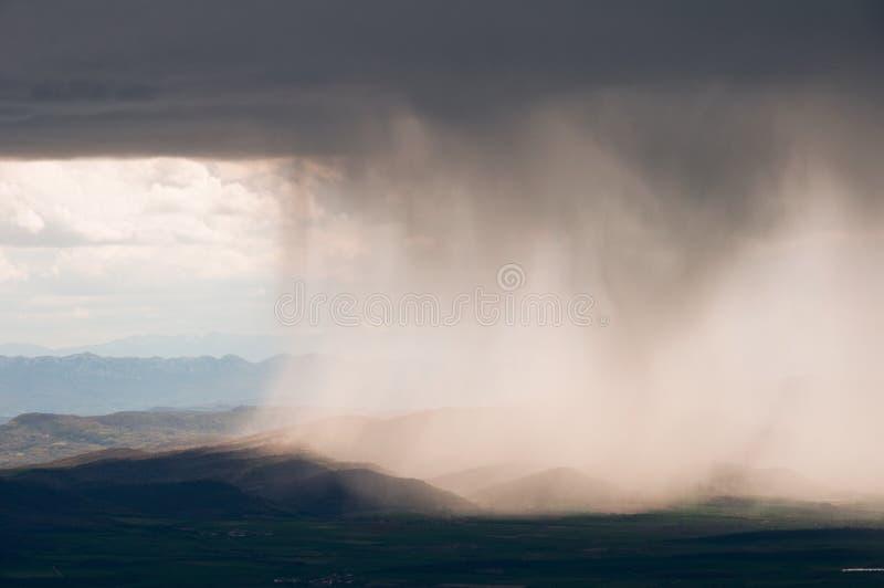 Het Onweer van de regen, Baskisch Land (Spanje) royalty-vrije stock foto