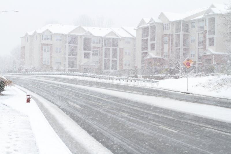 Het onweer van de sneeuw in Fairfax stock fotografie