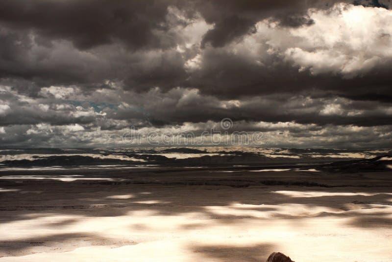 Het Onweer van de woestijn royalty-vrije stock fotografie