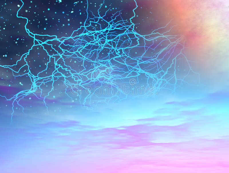 Het onweer van het heelal royalty-vrije illustratie