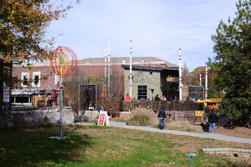 Het onzelieveheersbeestjebosje en knoeit Zaal, Atlanta, Georgië stock foto