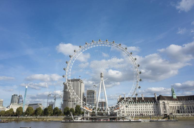 Het Oog Groot-Brittannië van Londen stock afbeeldingen