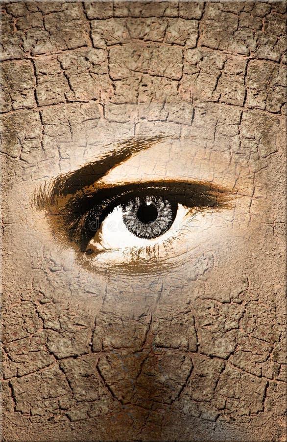 Het oog van de aard royalty-vrije stock afbeeldingen