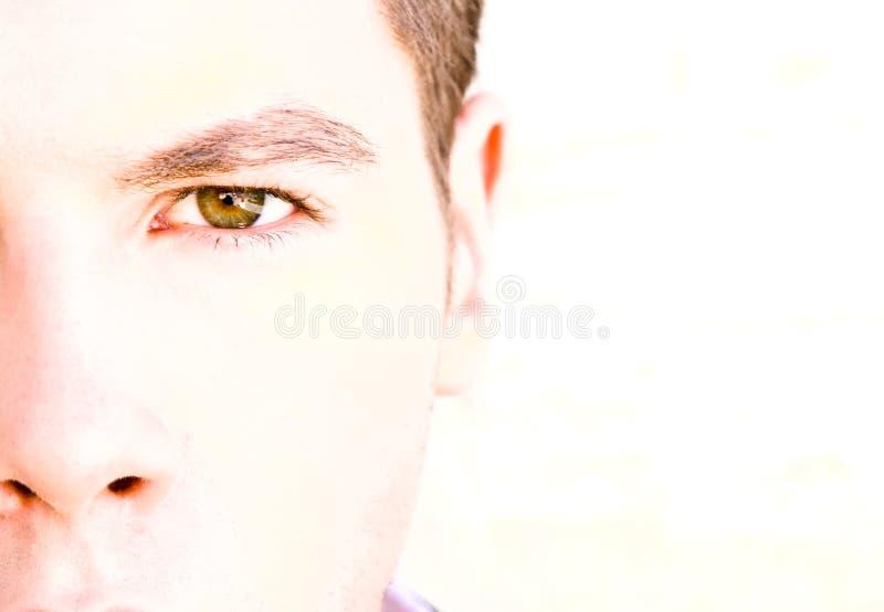 Het oog van de mens stock fotografie