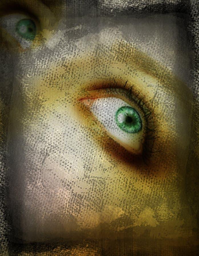 Het oog van Grunge vector illustratie