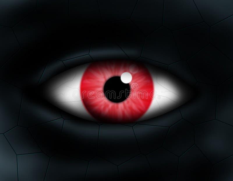 Het oog van het monster stock illustratie