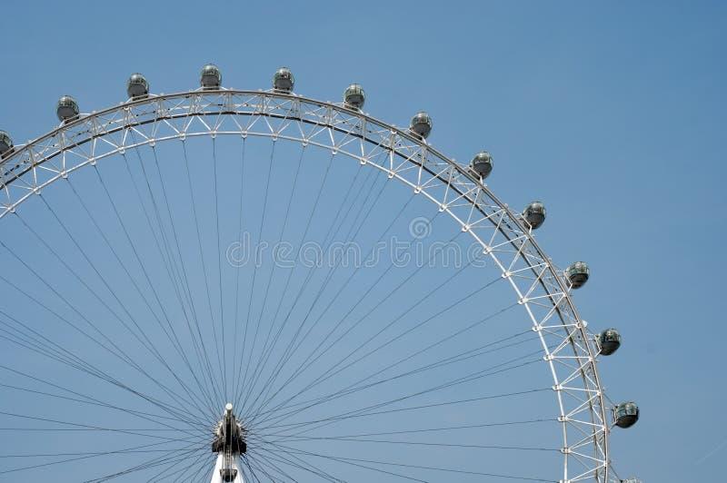 Het Oog van Londen in de hemel royalty-vrije stock foto's
