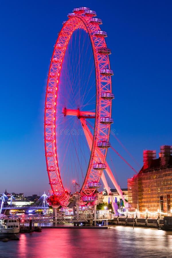 Het Oog van Londen, Engeland royalty-vrije stock foto