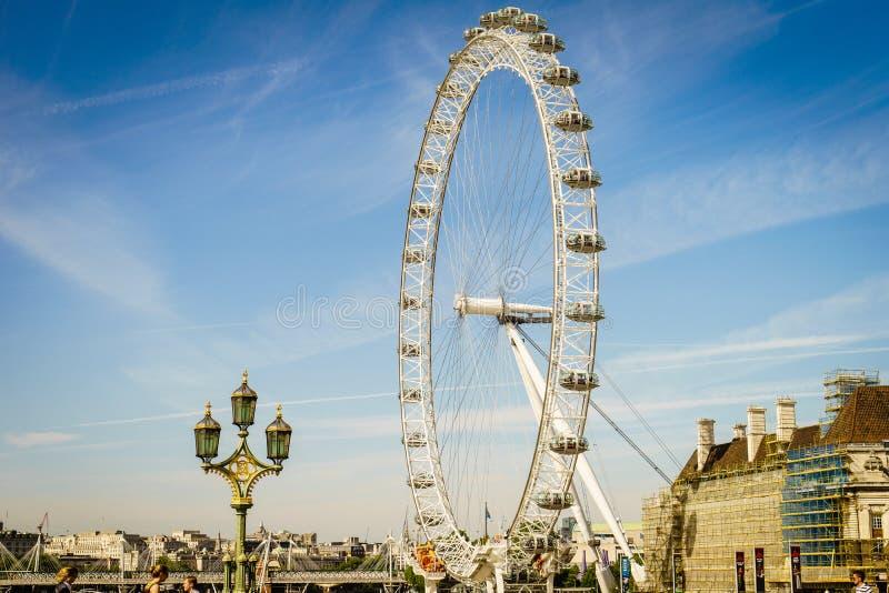 Het Oog van Londen, Londen, Engeland, het UK royalty-vrije stock foto
