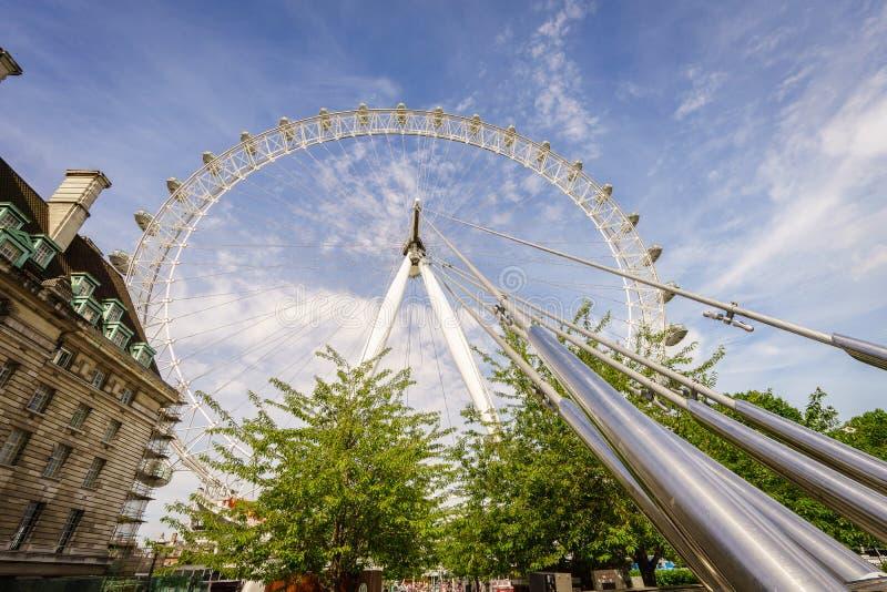 Het Oog van Londen, Londen, Engeland, het UK royalty-vrije stock foto's