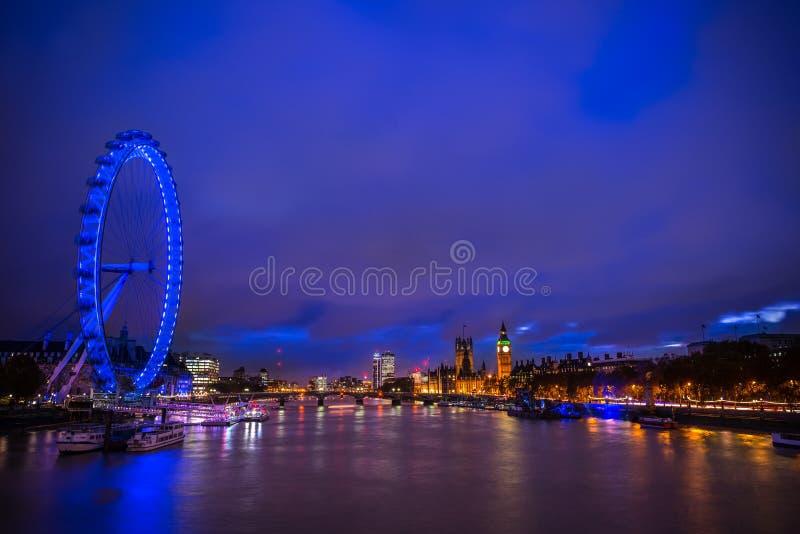 Het oog van Londen, Londen het UK royalty-vrije stock fotografie