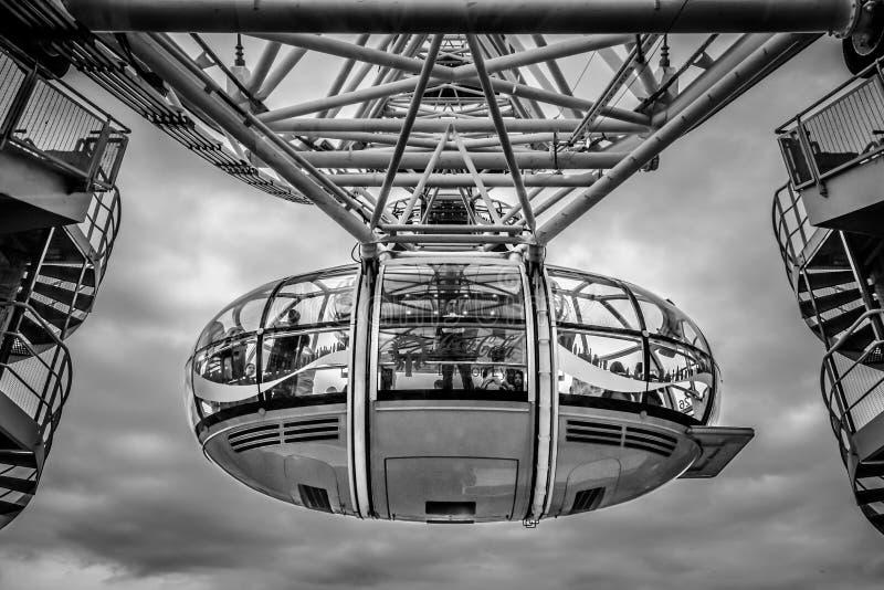 Het Oogcabine van Londen - BW HDR royalty-vrije stock fotografie