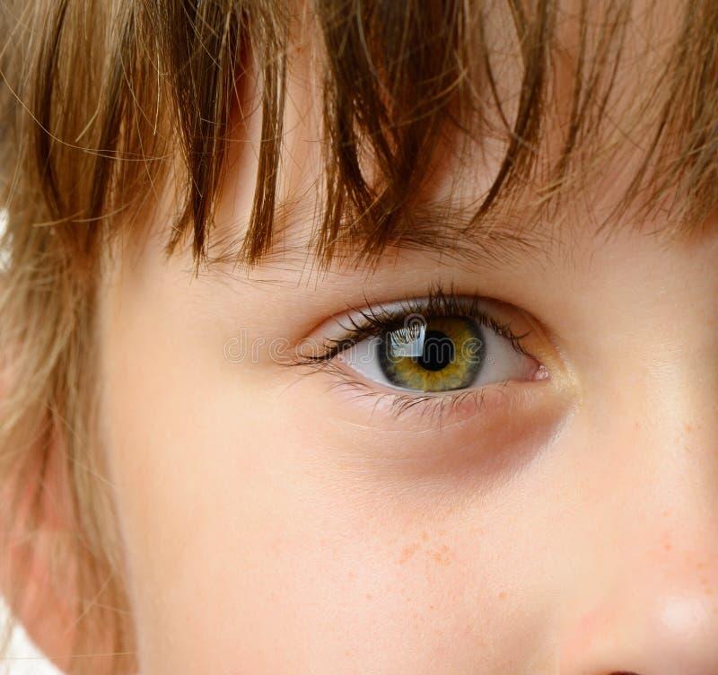Het oogclose-up van kinderen royalty-vrije stock foto
