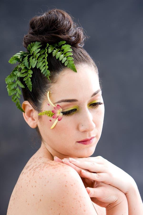 Het oogmake-up van de bloem stock afbeelding