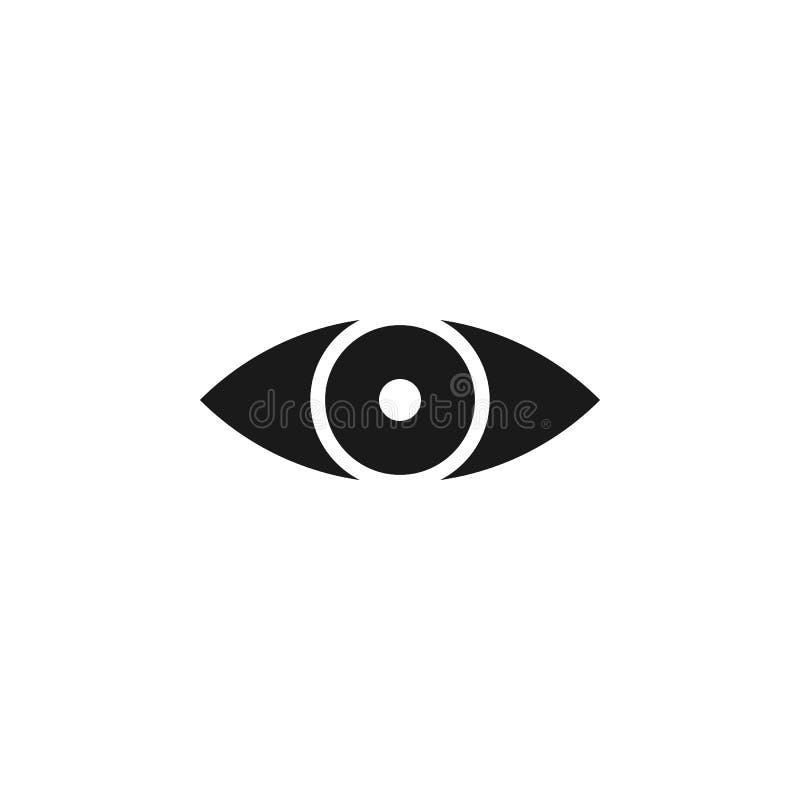 het oogpictogram van de gebruikerswebsite De tekens en de symbolen kunnen voor Web, embleem, mobiele toepassing, UI, UX worden ge royalty-vrije illustratie
