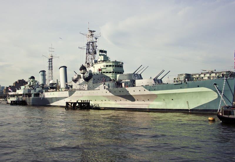 Het oorlogsschip van HMS Belfast royalty-vrije stock foto
