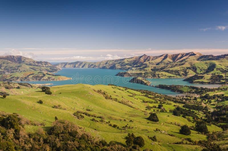 Het oorspronkelijke landschap van Nieuw Zeeland royalty-vrije stock foto