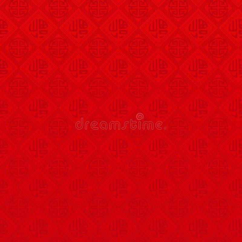 Het oosterse Chinese naadloze patroon van het Nieuwjaar vector illustratie