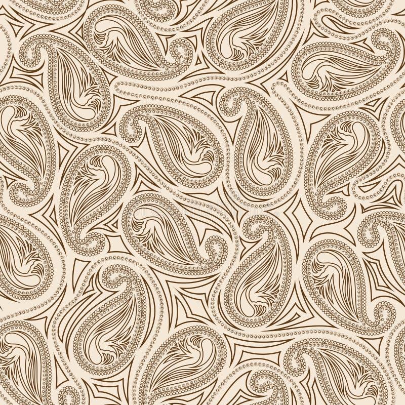 Het oosterse naadloze patroon van Paisley royalty-vrije illustratie