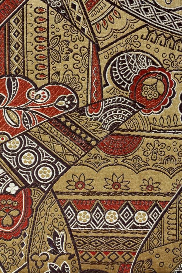 Het oosterse Patroon van de Stof van de Zijde stock foto's