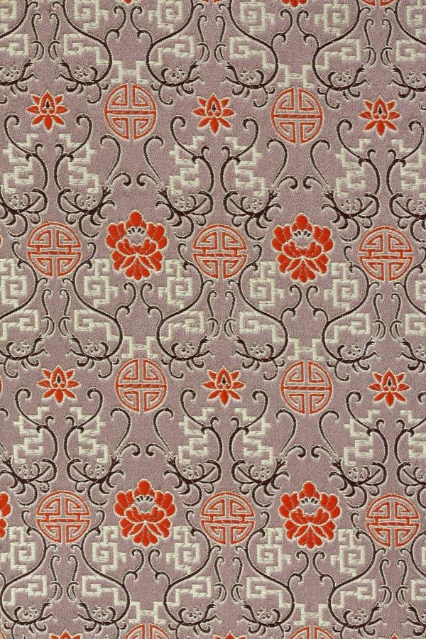 Het oosterse Patroon van de Stof van de Zijde vector illustratie