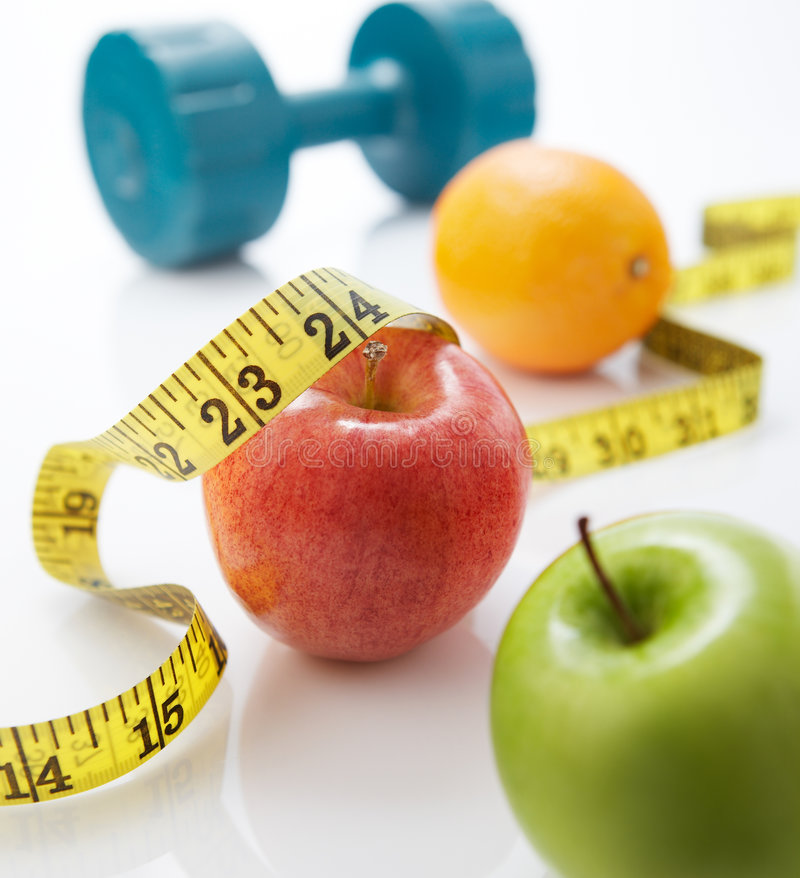 Het op dieet zijn stock fotografie