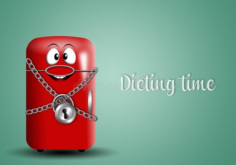 Het op dieet zijn tijd royalty-vrije illustratie