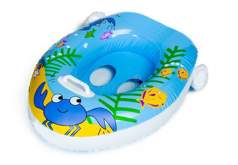 Het opblaasbare Stuk speelgoed van de Pool van de Boot van de Baby stock fotografie
