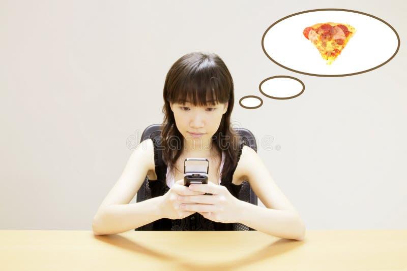 Het opdracht geven van tot Pizza royalty-vrije stock afbeeldingen