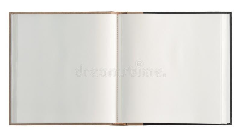 Het open boek isoleerde witte achtergrond royalty-vrije stock foto