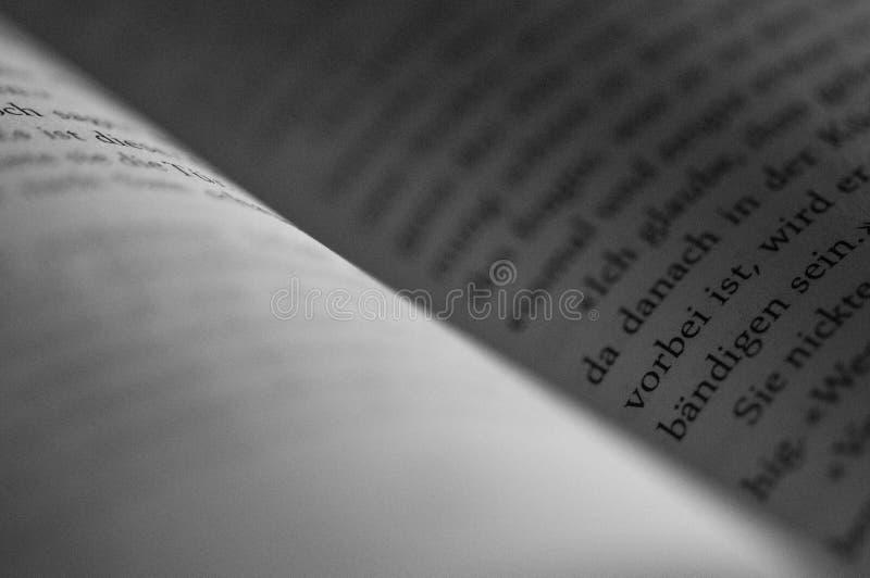 Het open close-up van de boekpagina royalty-vrije stock fotografie