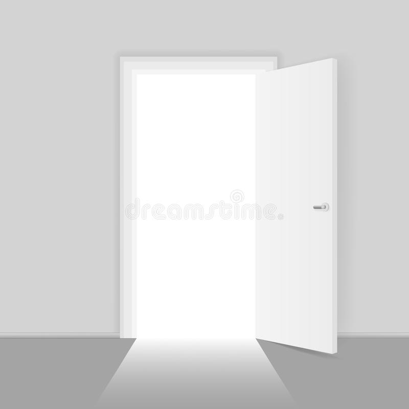 Het open concept van deurkansen voor bedrijfssucces vectorillustratie stock illustratie