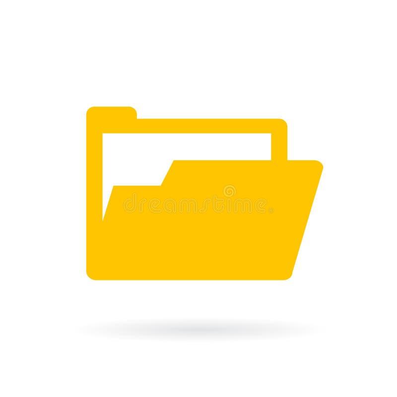 Download Het Open Gele Pictogram Van De Documentenomslag Vector Illustratie - Illustratie bestaande uit menu, interface: 107703793