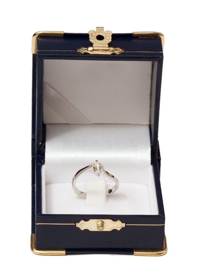 Het open Geval van het Juweel met Ring royalty-vrije stock fotografie