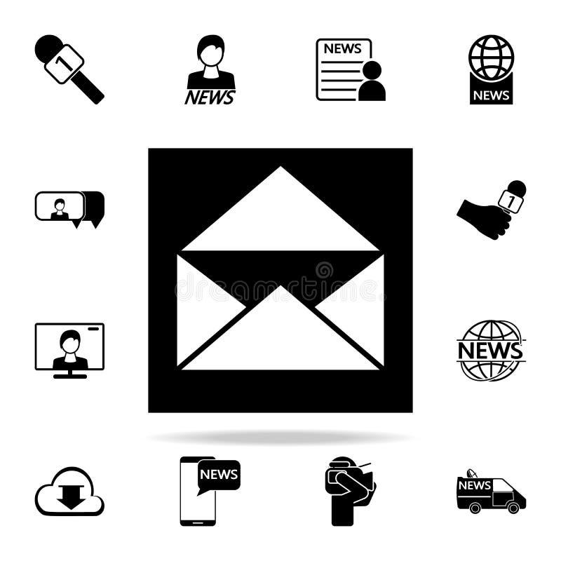 het open pictogram van de brievenenvelop Media voor Web wordt geplaatst dat en mobiel pictogrammenalgemeen begrip stock illustratie