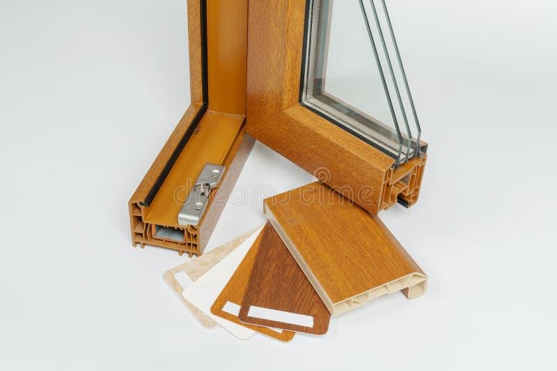 Het open Plastic Vensterprofiel isoleerde dicht omhoog royalty-vrije stock foto