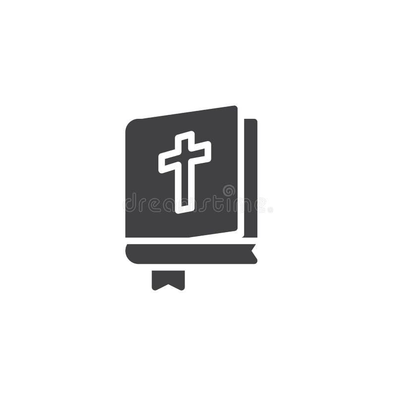Het open vectorpictogram van het Bijbelboek vector illustratie
