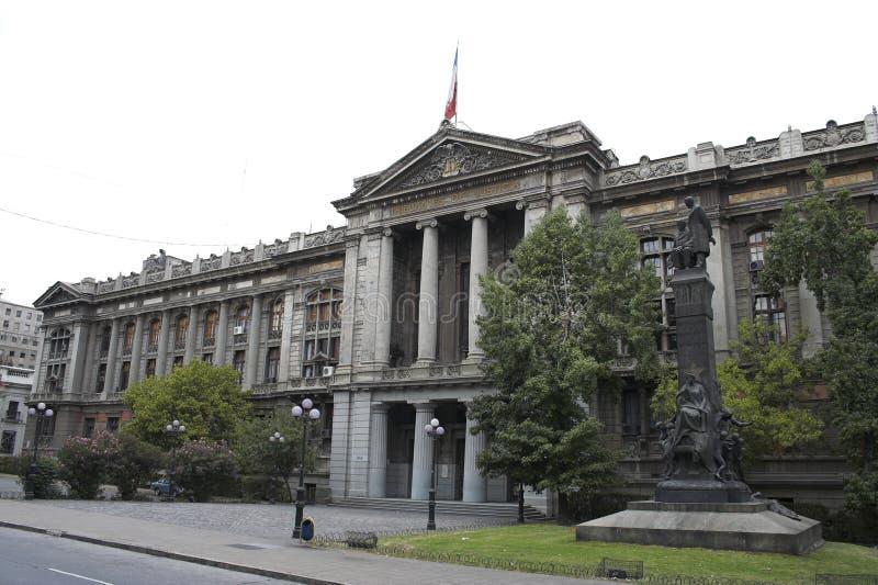Het openbaar gebouw Santiago doet Chili stock afbeelding