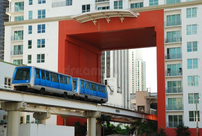 Het Openbaar vervoer van Miami stock foto