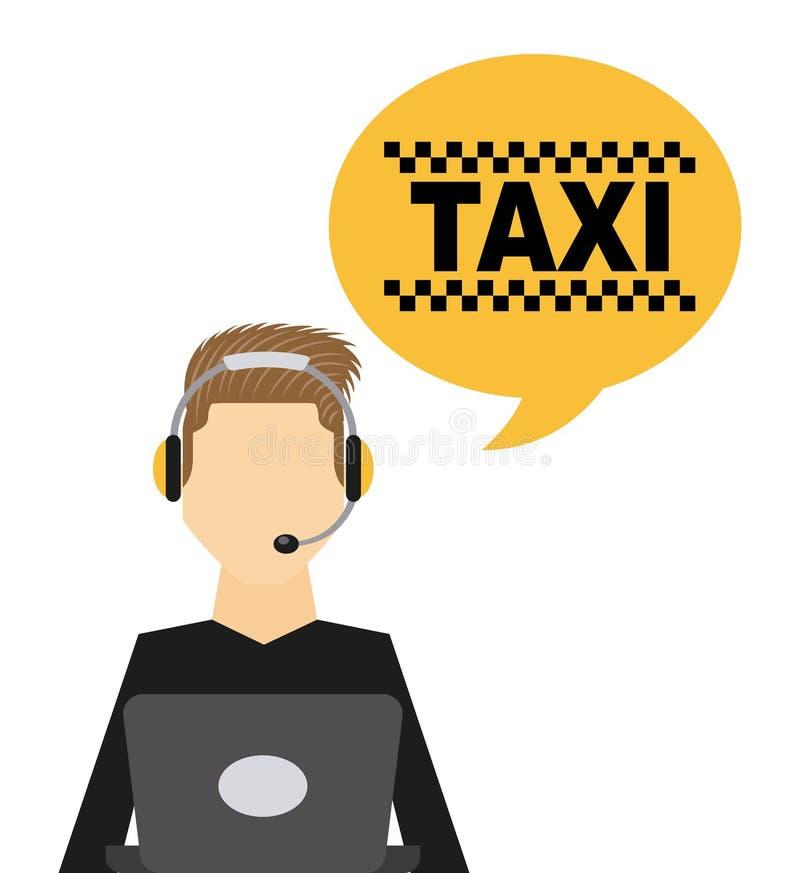 het openbare ontwerp van de taxidienst stock illustratie