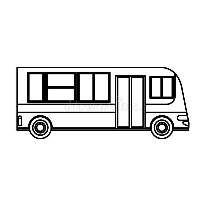 het openbare overzicht van de busvervoersdienst stock illustratie
